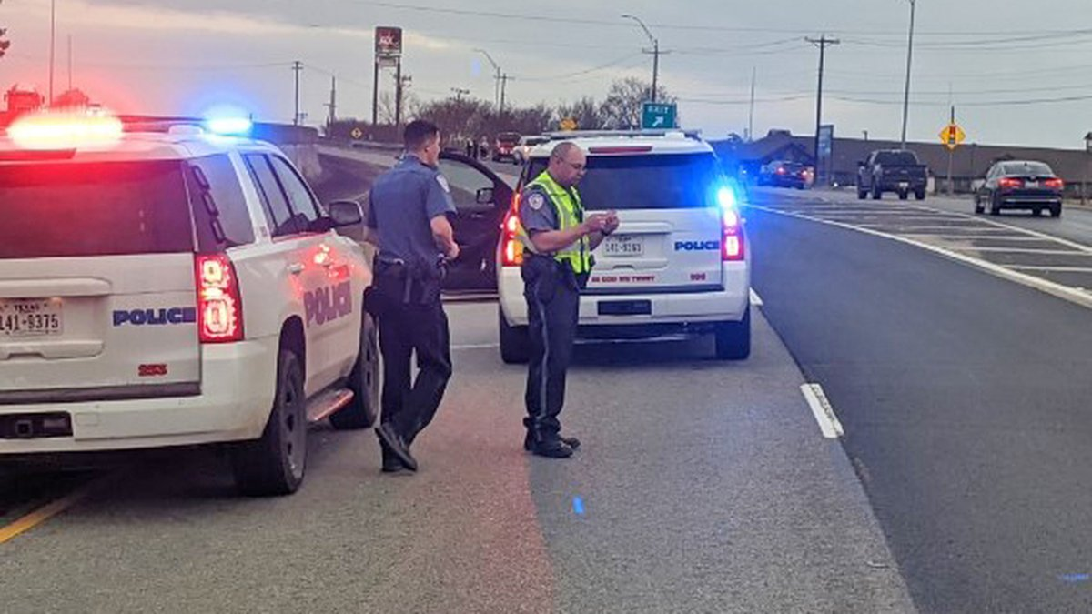 A woman was injured while crossing South John Redditt Drive. (Source: Lufkin police)
