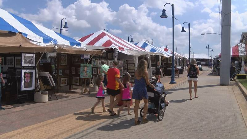 The Red River Revel takes place in downtown Shreveport.