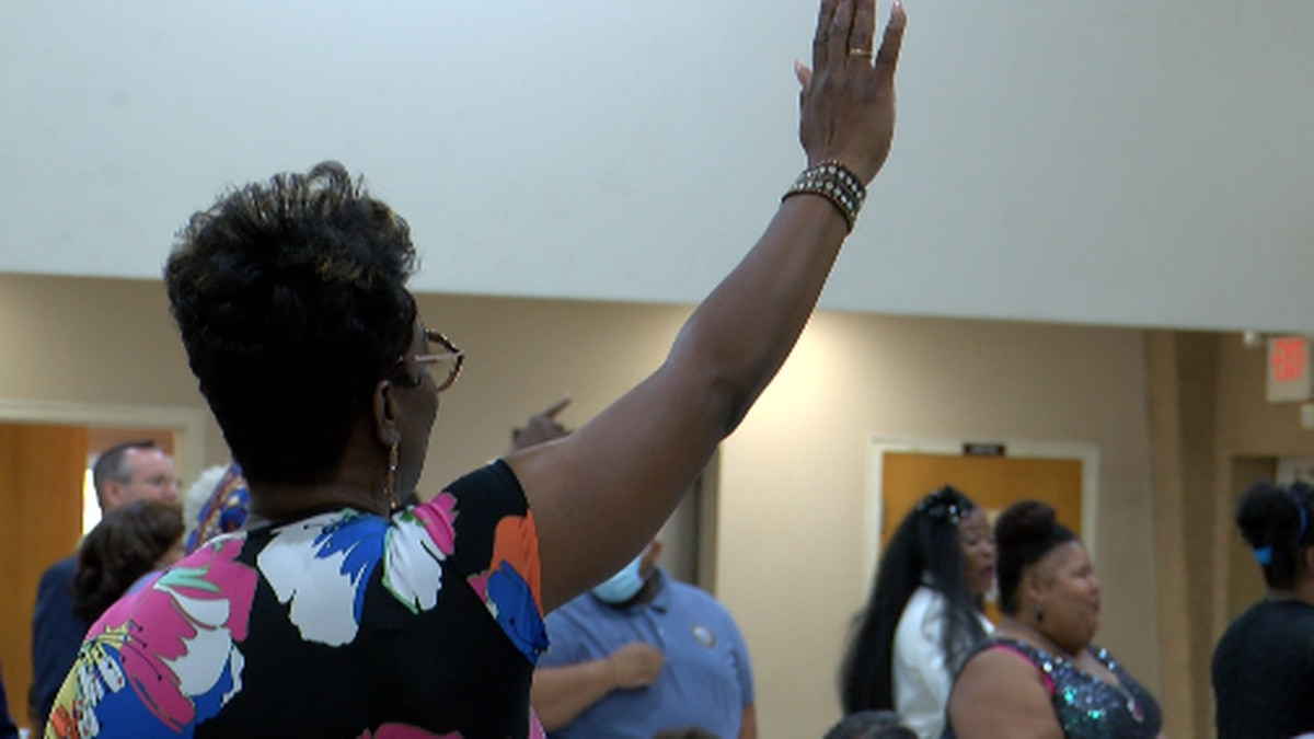 Shreveport city, community, faith and educational leaders gathered to pray for peace and...
