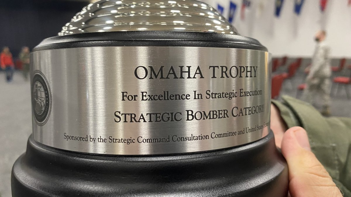 The 96th Bomb Squadron at Barksdale has been awarded the Omaha Trophy.