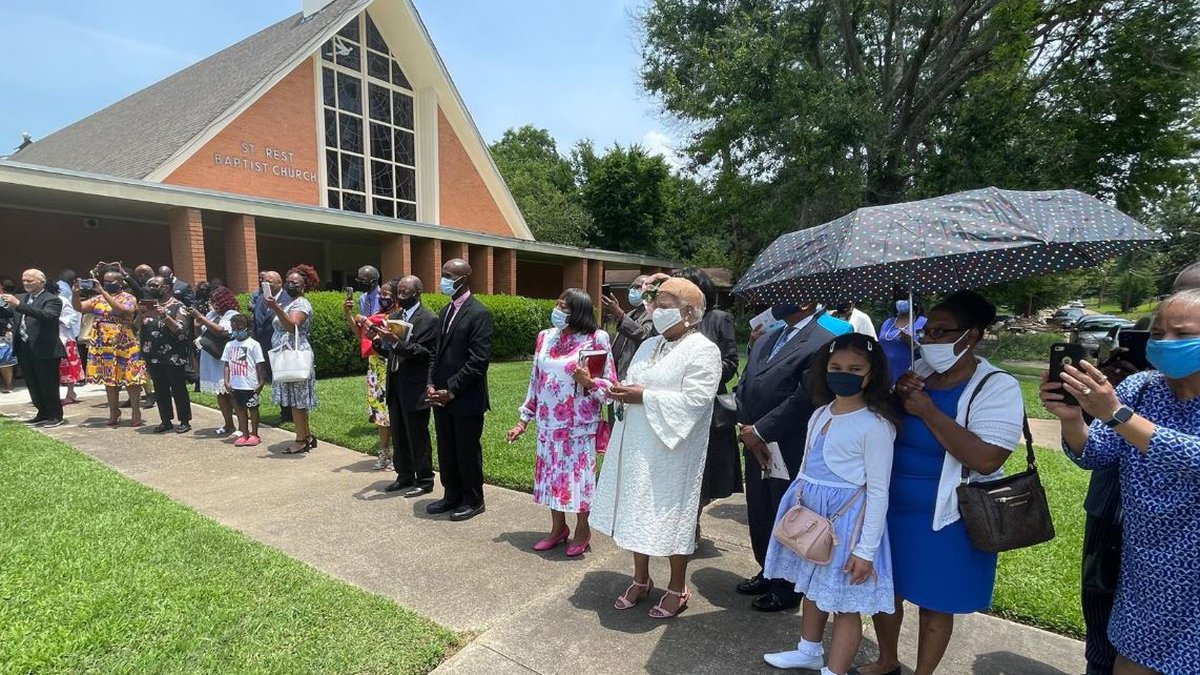 A historical marker unveiled June 13, 2021, cements St. Rest Baptist's place in civil rights...