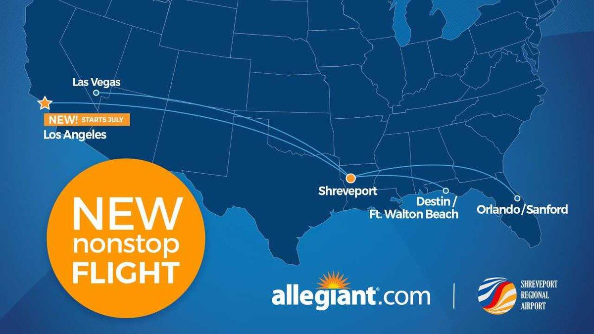 Allegiant Air offers flights to Destin, Orlando, Las Vegas and now Los Angeles.