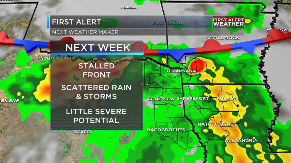 We are tracking another round of wet weather ahead as our active pattern rolls on.