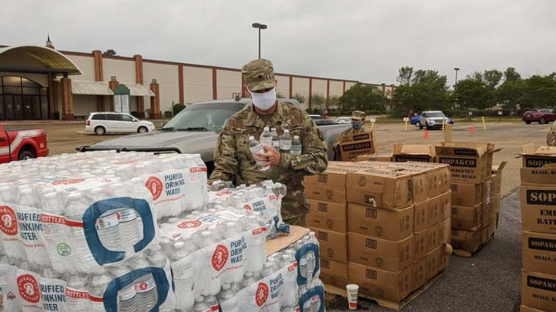 Locations are being set up for Hurricane Ida victims to be fed.