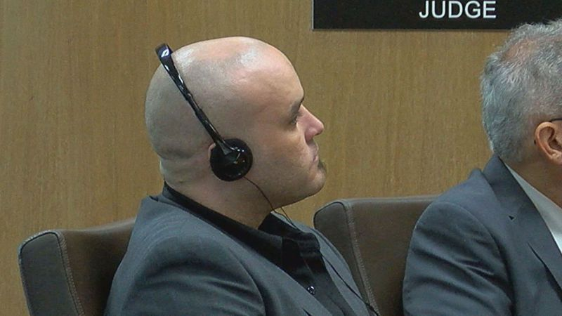 Felipe Manuel Nieves Perez, 33, of Austin, appears in court on the first day of his sentencing...