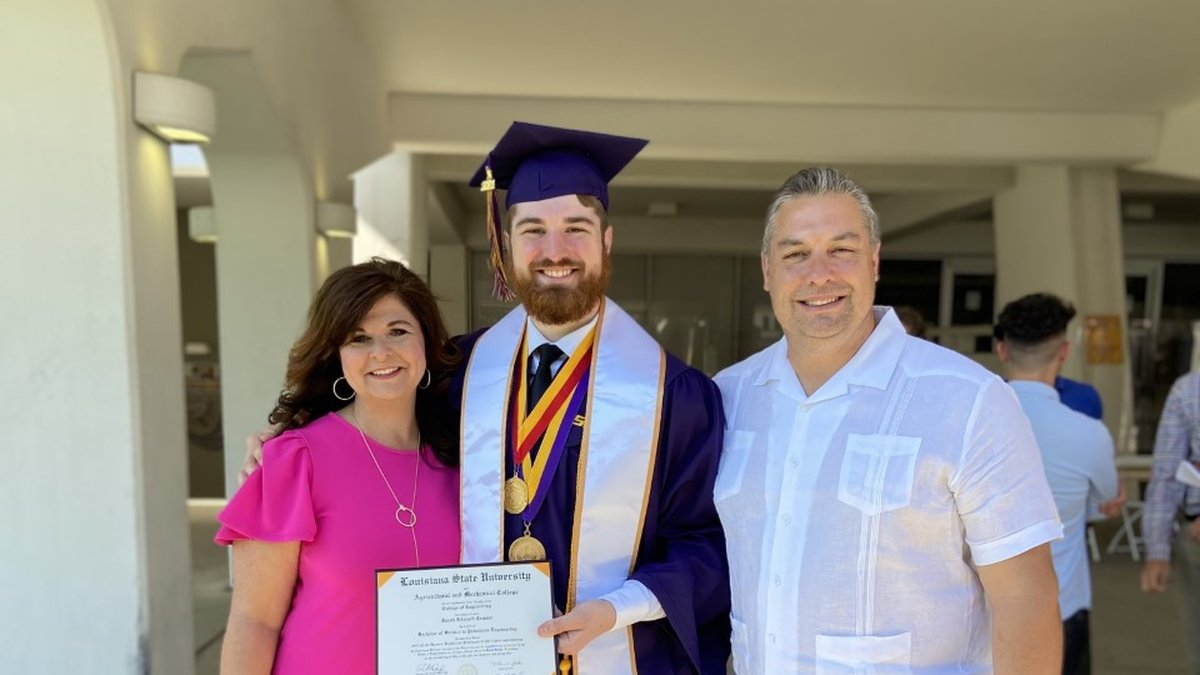 Jake Crusan graduated from LSU in May 2021.