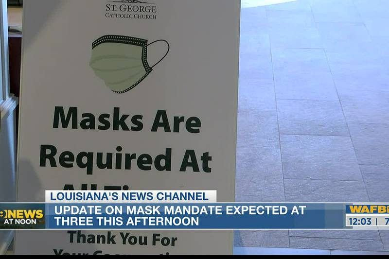 Update on state's mask mandate expected from Gov. Edwards Tuesday
