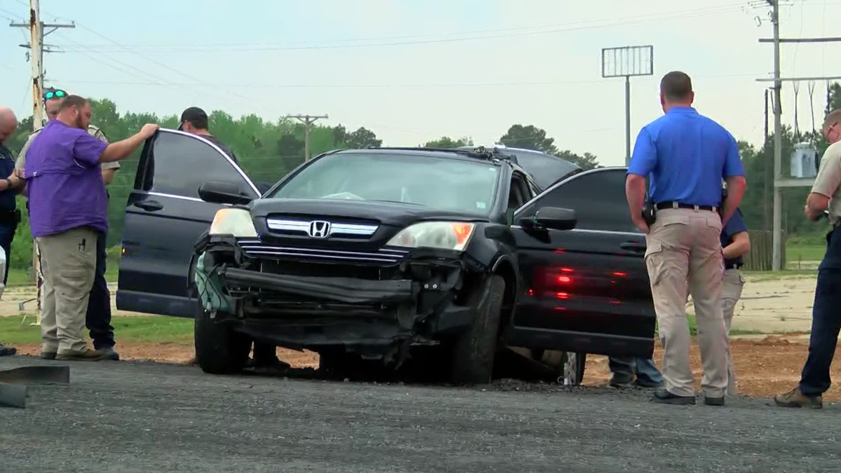 A high speed chase from Bienville to Webster Parish ended in a crash on Friday, April 9, 2021.