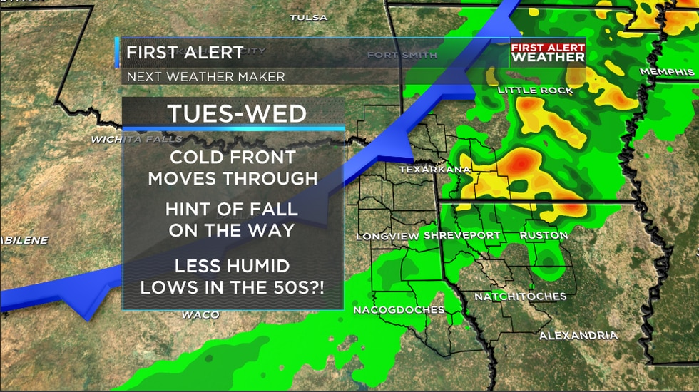 We are tracking big changes on the way later this week as a cold front blows through the...