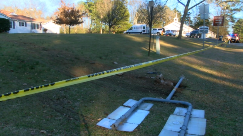 Damage caused by church shooting suspect crash