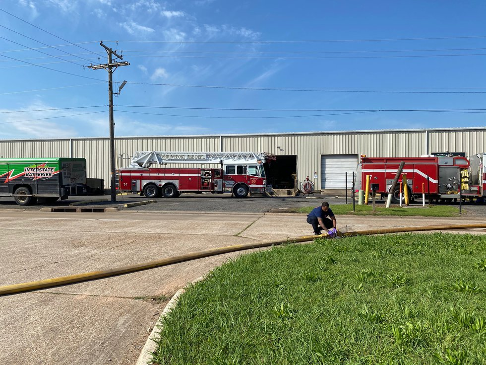 SFD extinguish flames at Interstate Battery.
