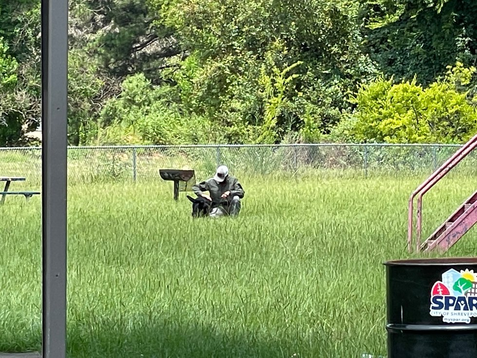 Detectives were seen out at Doug Williams Park in Shreveport, La. after the body of missing...