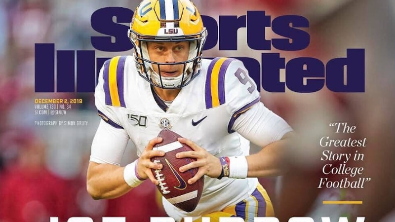 Joe Burrow graces the cover of Sports Illustrated.