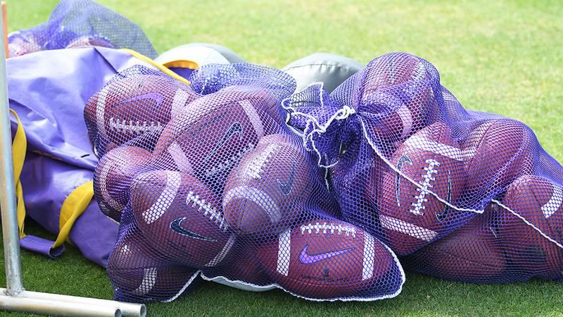 LSU Football Spring Practice