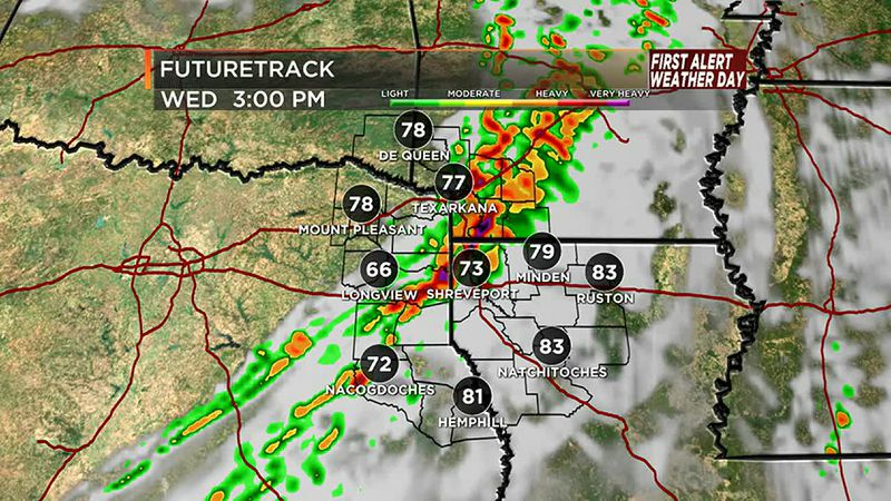 Strong storms Wednesday