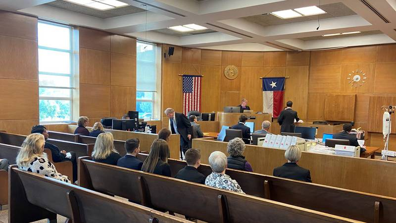 Pictured is the courtroom for the William Davis murder trial. (Source: Julian Esparza, KLTV...