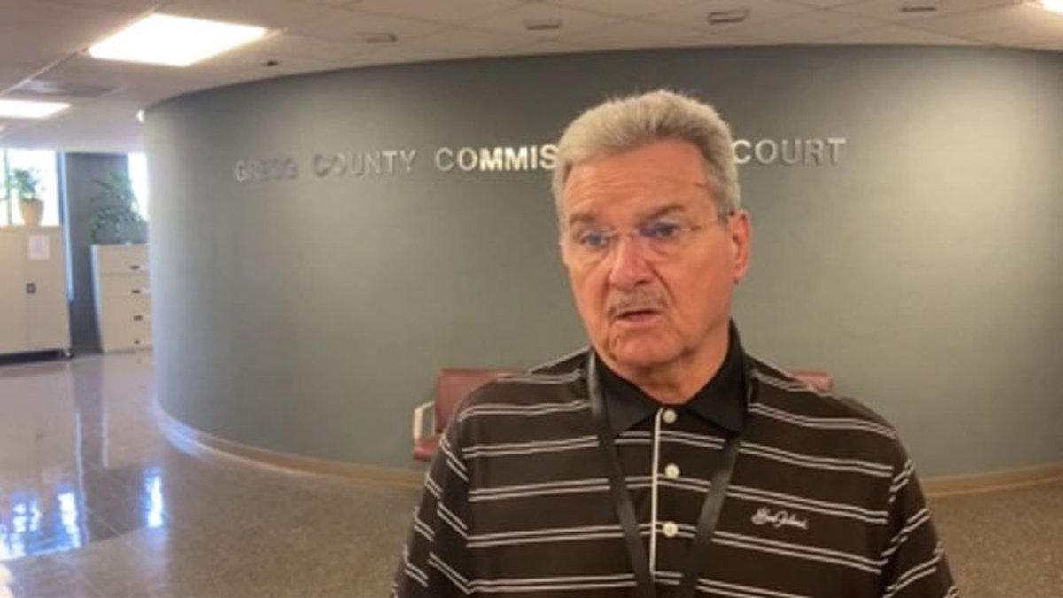 Gregg County Judge Bill Stoudt about the county's road projects. (Source: Jamey Boyum, KLTV...