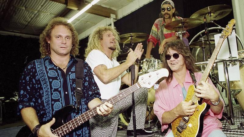 FILE - *Van Halen is seen in Los Angeles, Jan. 17, 1993. Members of Van Halen, from left, left,...