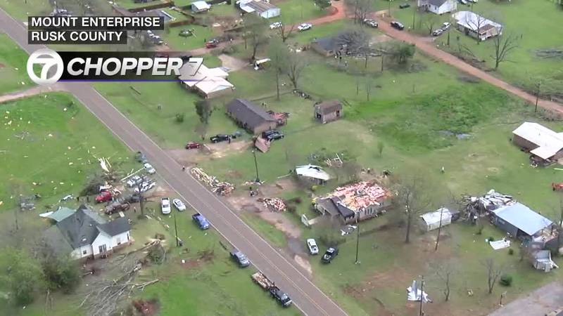 Storm damage from Chopper 7