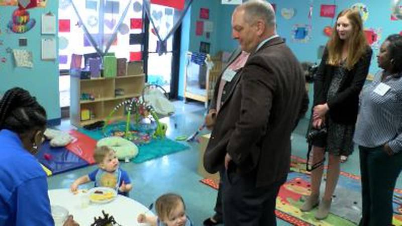 Gov. John Bel Edwards visited a New Orleans preschool as he proposes spending more money on...