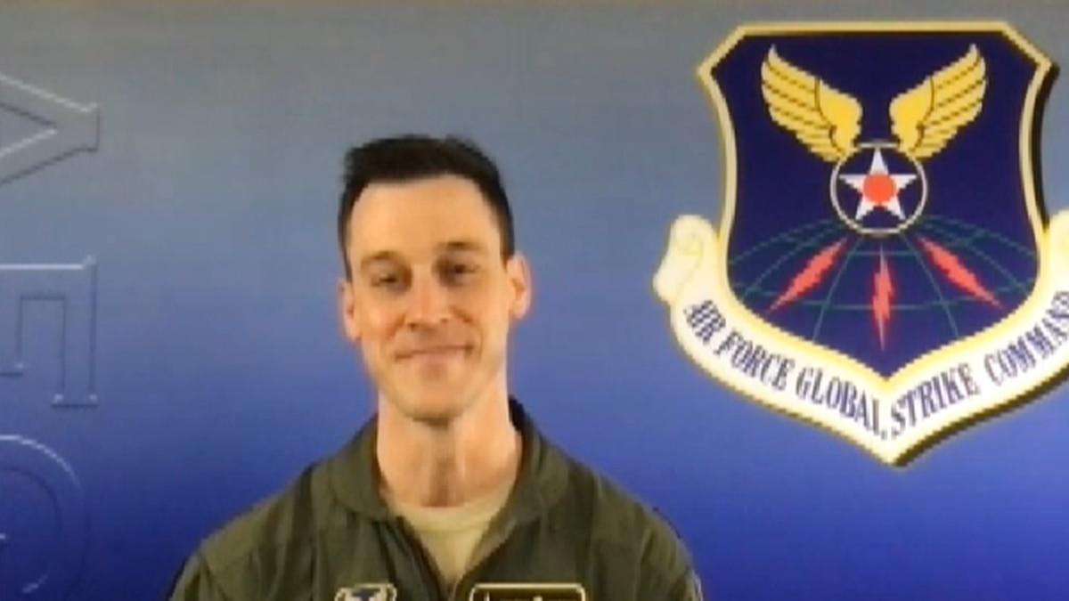 Major Michael Webster from Ellsworth Air Force Base