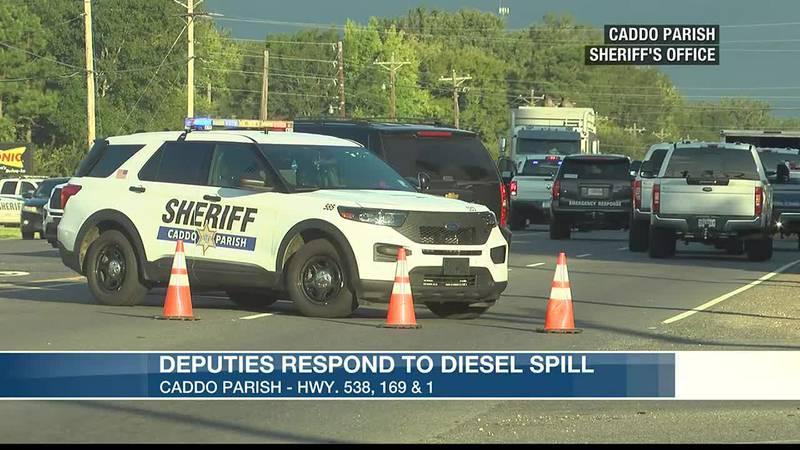 DEPUTIES RESPOND TO DIESEL SPILL