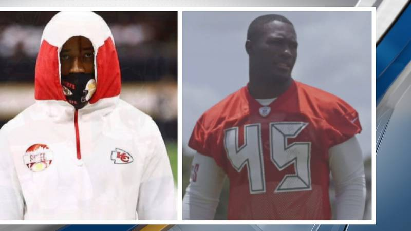 From Left: Kansas City Chiefs L'Jarius Sneed and Devin White of the Tampa Bay Buccaneers will...