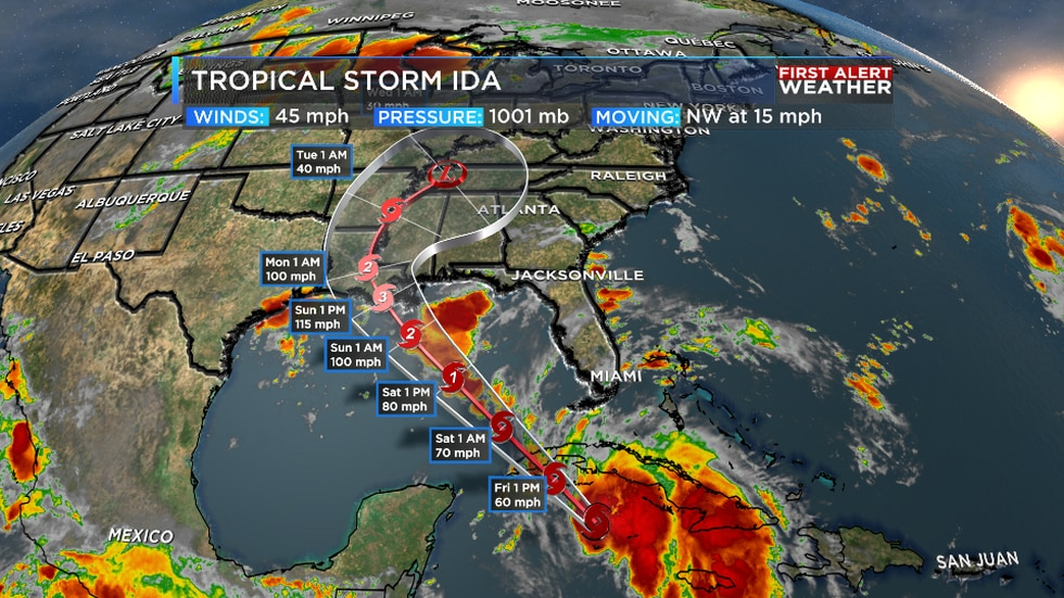 We are now expecting Ida to become a major hurricane before making landfall this weekend.