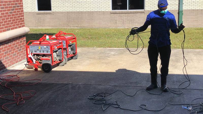 generators brought to polling places