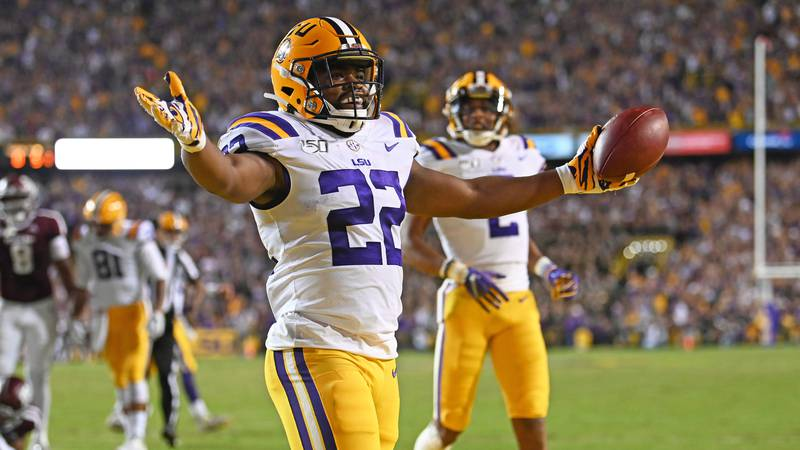 LSU Running Back Clyde Edwards-Helaire (No. 22)