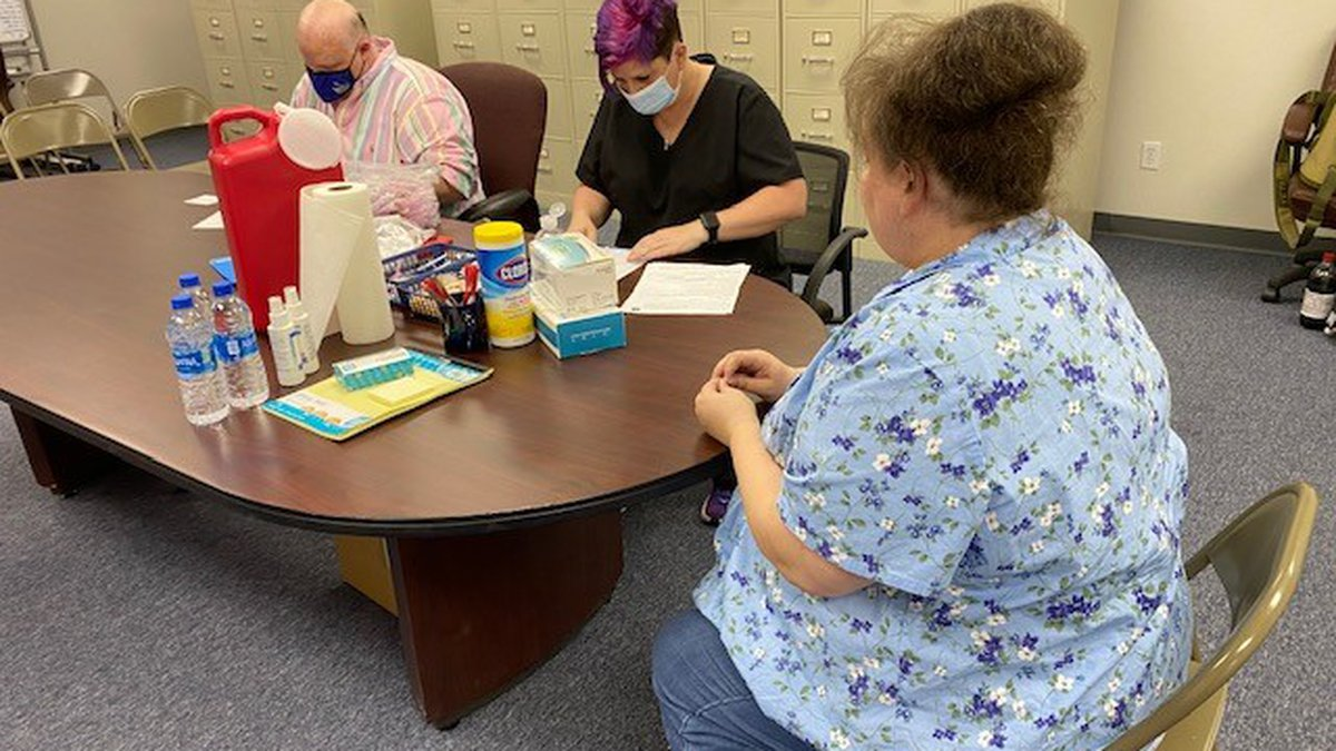 Health leaders in Miller County, Ark. held a COVID-19 vaccination clinic July 22, 2021 as...