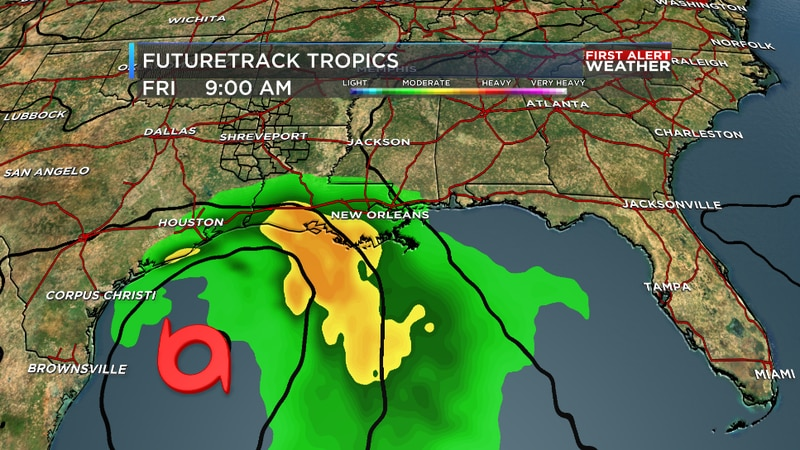 The European model shows a tropical system in the western Gulf next Friday.
