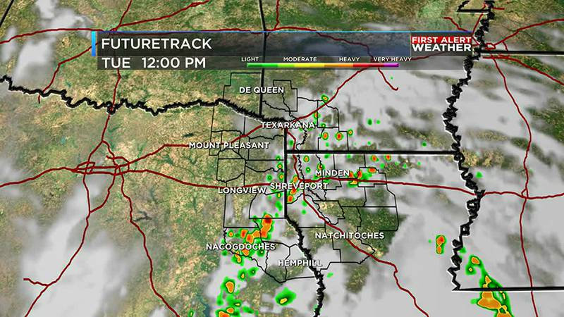 Make sure you have an umbrella today as we tracking hit and miss shower chances for the region.