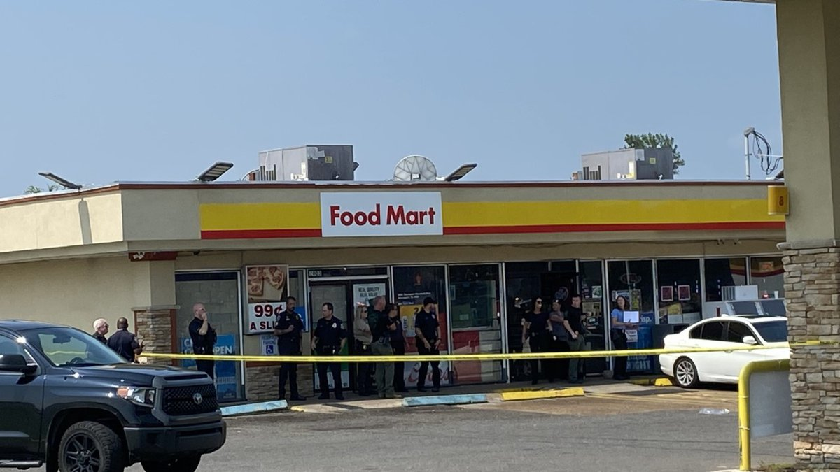 Dispatchers got the call to the Shell Station on Hilry Huckaby III Avenue just before 11 a.m.