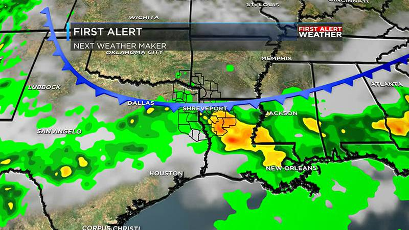 Cold front brings relief next week