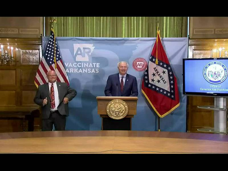 WATCH: Arkansas Governor Asa Hutchinson provides COVID-19 update