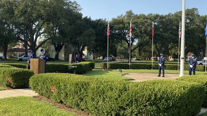 Barksdale Air Force Base in Bossier City, La. held a solemn remembrance ceremony Friday, Sept....