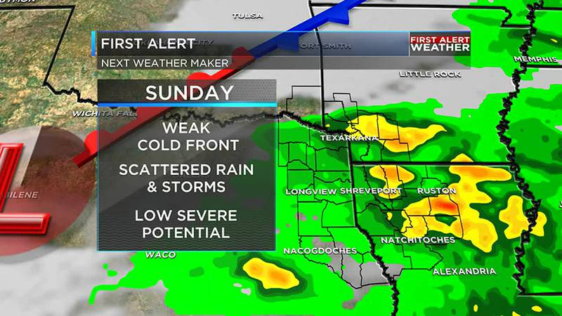 Rain and storms will be likely