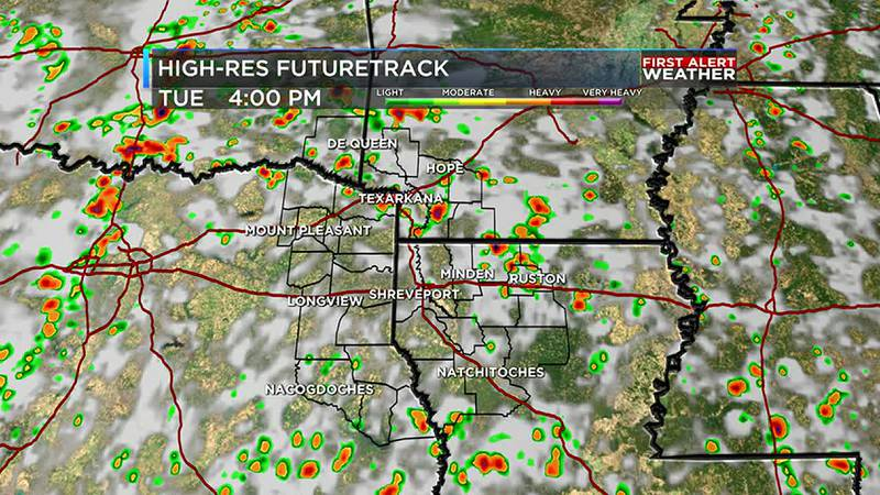 Some rain and storms will be around Tuesday afternoon