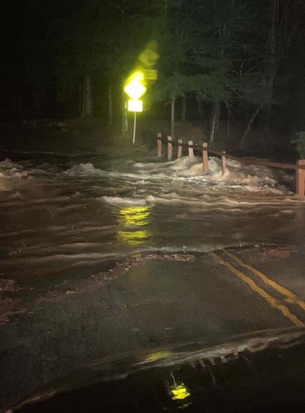 Flooding in Beavers Bend State Park