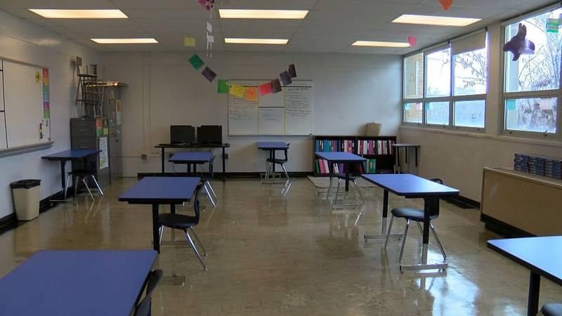 This classroom in Central High School is just one example of how schools would look if the...