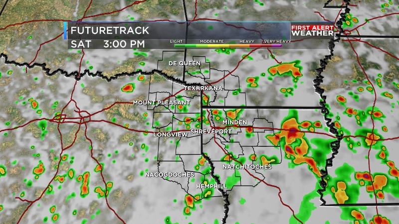 Scattered rain over the weekend