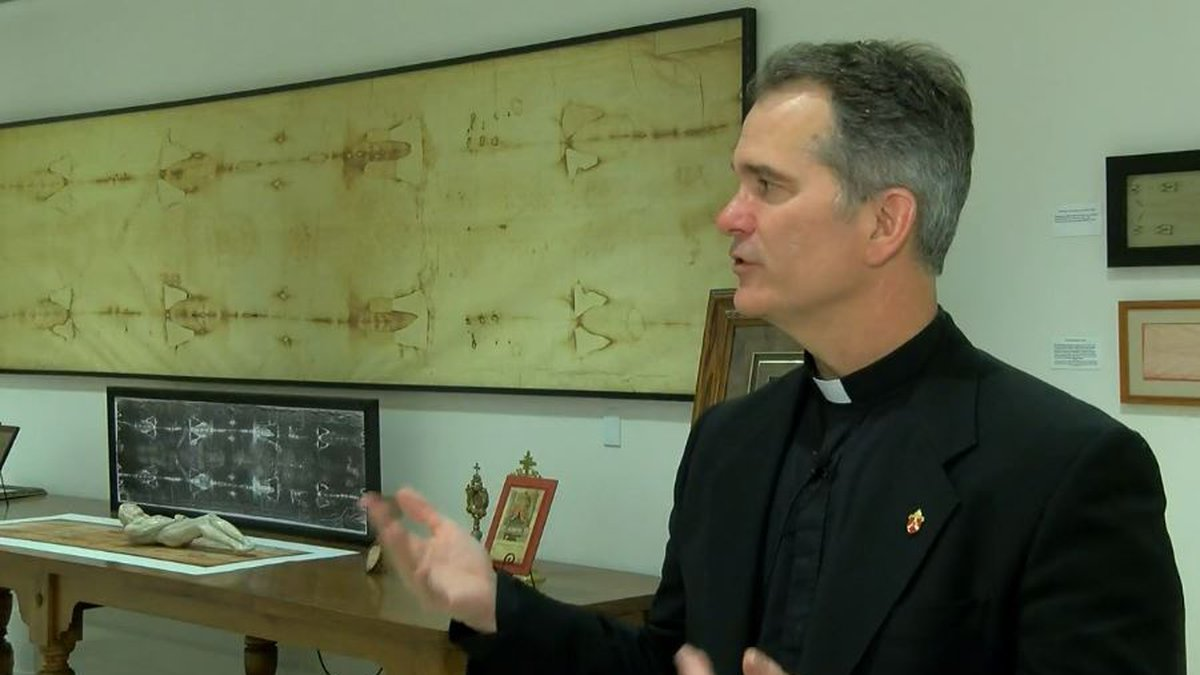 """""""This is the third largest collection of all Shroud-related objects in the world,"""" Father Peter..."""
