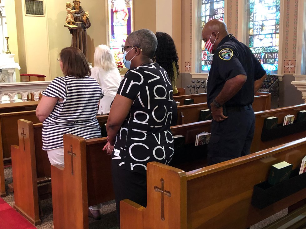 Holy Trinity Catholic Church held a special mass Wednesday, June 16, 2021 to pray for an end to...