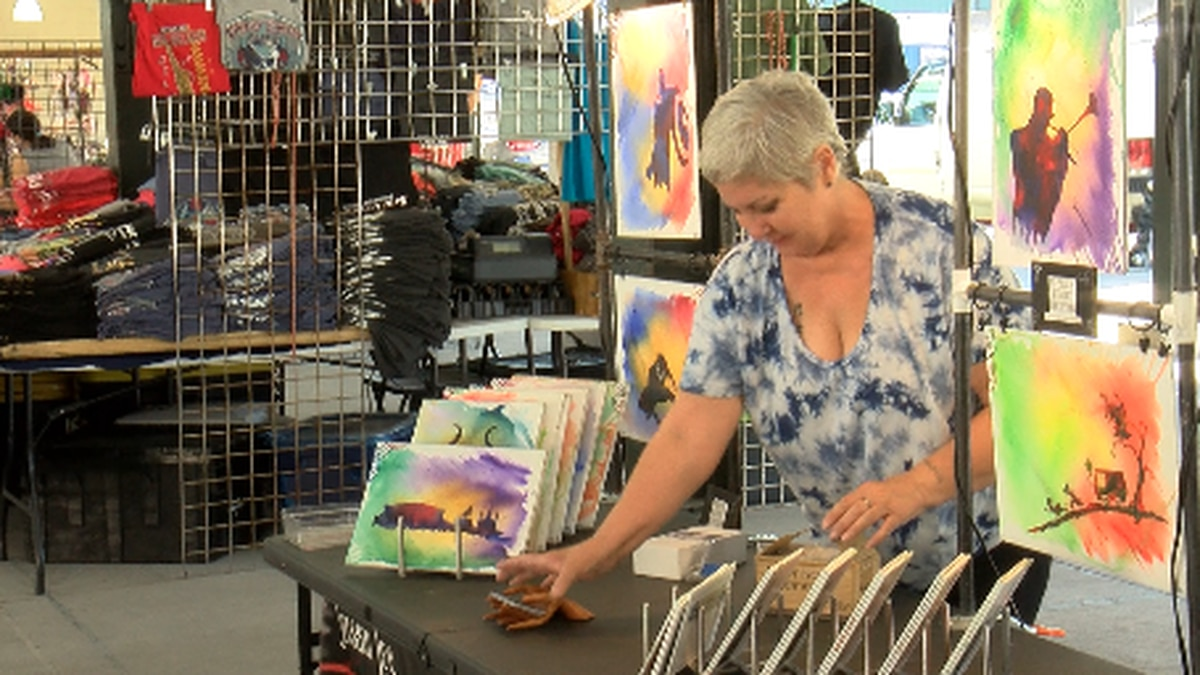Vendors return to the French Market nearly one month after Hurricane Ida