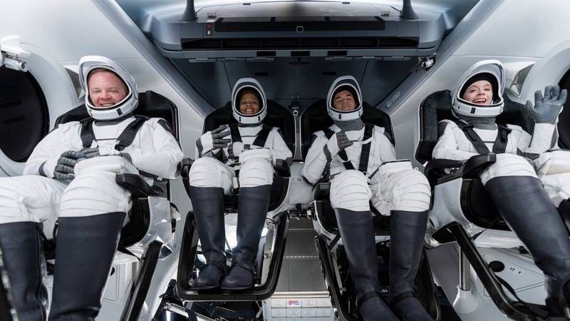 The Inspiration4 crew is preparing for splashdown at approximately 7:06 p.m. EDT in the...