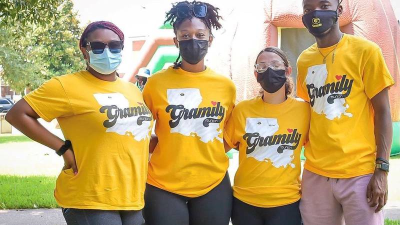 Grambling State University students ready to welcome new students.