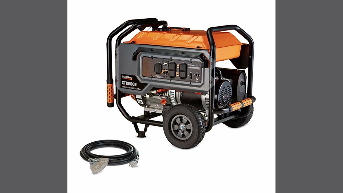 The recall involves 6500 watt and 8000 watt Generac portable generators with unit type numbers...
