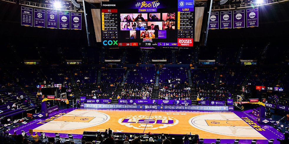 FILE PHOTO - The LSU Tigers hosted the South Carolina Gamecocks at the Pete Maravich Assembly...