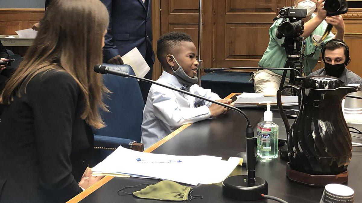 Ka'mauri Harrison testifies at the capitol Wednesday, Oct. 7.
